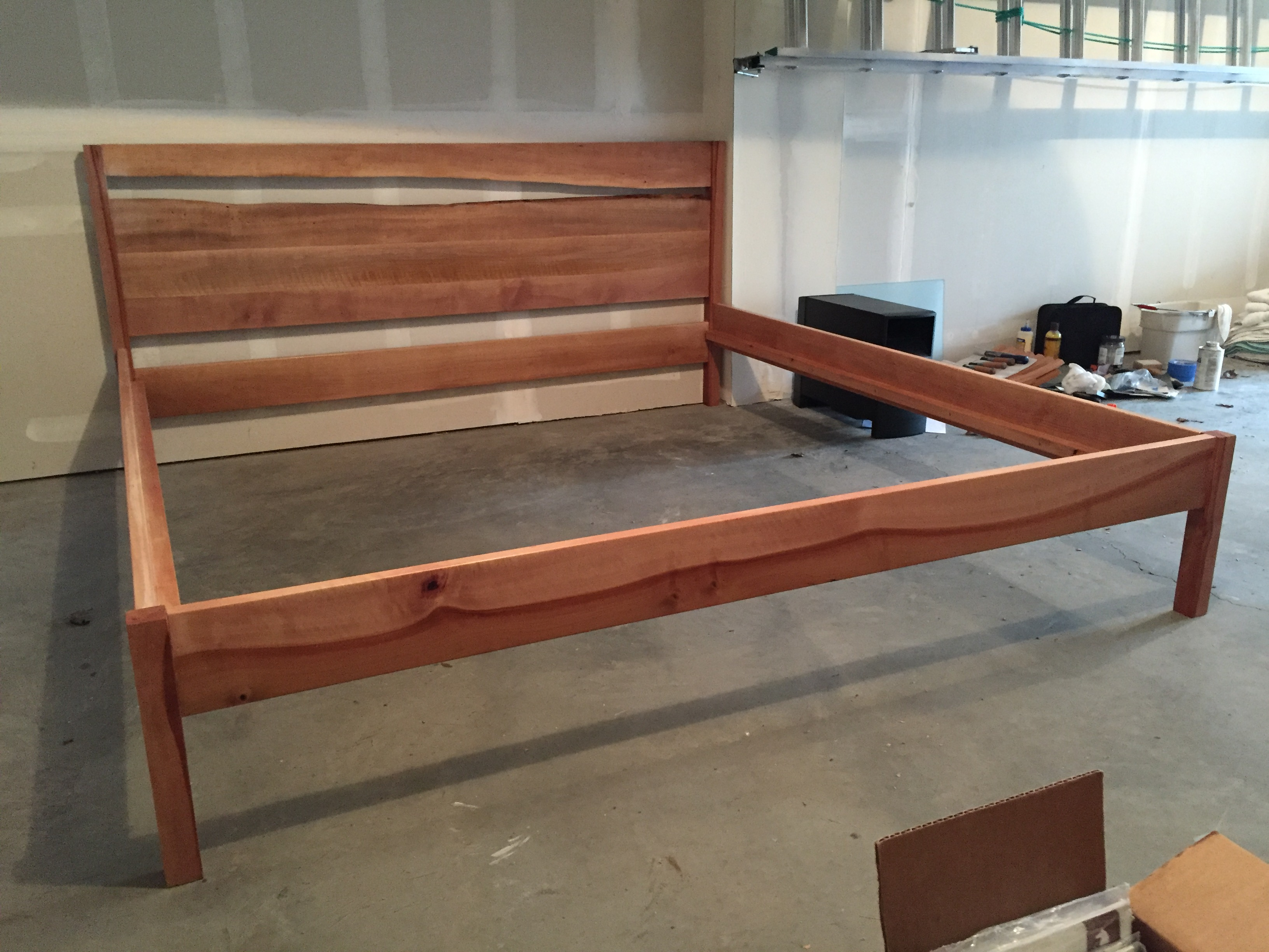Madrone Bed Frame With Live Edge