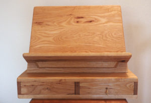 rustic white ash dictionary stand