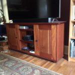 jd woodworks sapele TV stand II