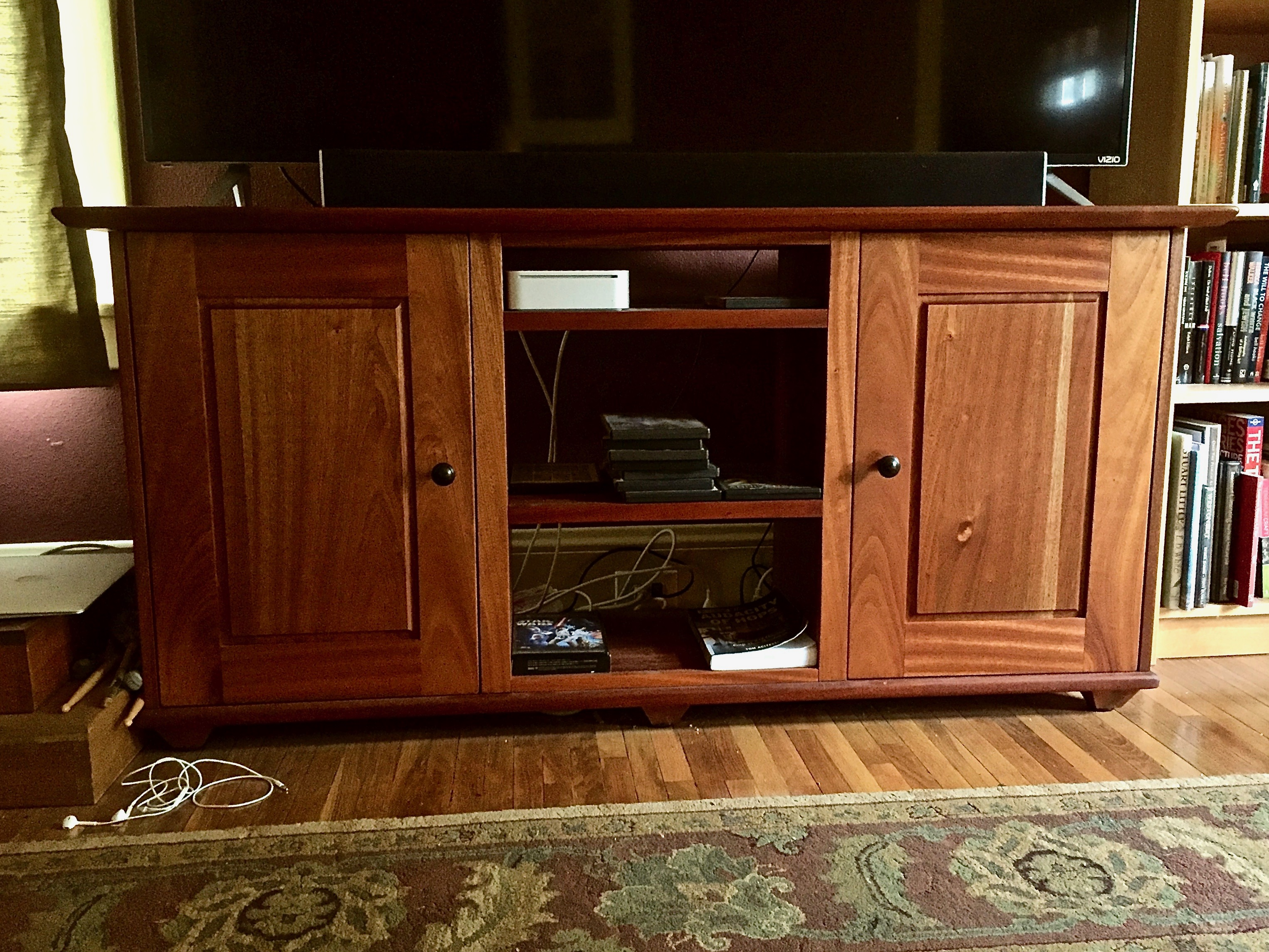 jd woodworks sapele TV stand